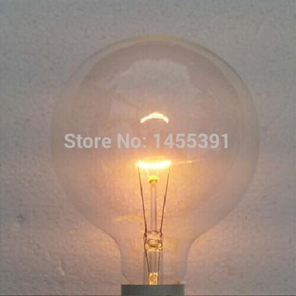 Free Shipping G95 40W 220V E27 Incandescent Vintage Pendant Light Bulb Retro Edison Light Bulb Decoration Style Wholesale(China (Mainland))