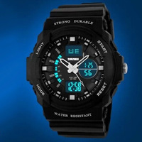 Promotional SKMEI 0955 Resin Quartz Watch Men Women Dual Display Sports Watches Fashion Backlight Watches Relogio Rolojes