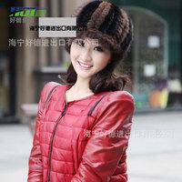 new mink coat lady mink fur hat cap,warm winter millinery behalf,free shipping