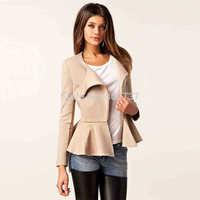 2014 New Design Womens Short Over Coat Side Zipper Coat Lady/Girls Woolen Coat Wool Jacket/Coat Plus Size M-XXL 3 Colors Free