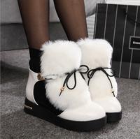 plus size36-40 fashion elegant lady's short boots winter warm fur women ankle boots charming warm snow boots women winter shoes