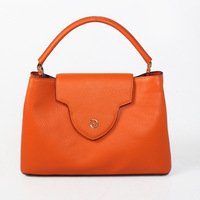 2014 new arrival first layer cow Genuine Leather Women Handbags letter Tote Fashion handbag famous desingers brand lady tote