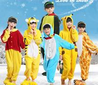 2014 New Fashion One-Piece Kids Flannel Romper Long Sleeves Bodysuits Soft Jumpsuits Children Cartoon Animal Blanket Sleepers