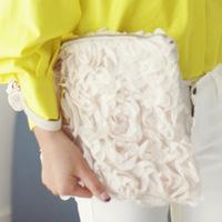 2014 Hot Women Handbags Lady Lace Fresh Roses Handbag Clutch bags Brief Flower Evening Bag  Bag Free shipping