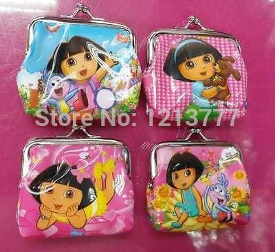 Free Shipping 12 Pcs Dora coin purse 4 order women's coin purse women's wallet children's purses(China (Mainland))