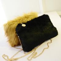 2014 Winter New Fashion Fur Women handbag Designer Women Messenger Bag Blue Shoulder Bags For Women Clutch bag Free Shipping