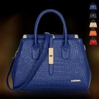 High Quality 2014 new fashion women leather handbags brand leather handbag Messenger bag Cow split leather crocodile pattern