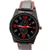 Dropship Hot Fashion PU Leather Strap Watches Men Sport Luxury Brand Sport Wristwatch