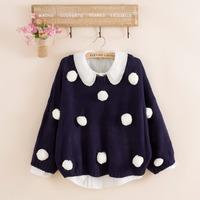 2014 fashion women's winter wool knitted O-neck  short wool knitted wool sweater cloak design sweater free shipping