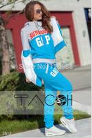 2014 New Winter & Autumn Women GXP Print Hoodies Set Casual Sweatshirt+pant+vest Baseball Sport Suit,Tracksuits,Running Set