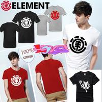 summer famous new brand fashion element skateboard streetwear cotton man t-shirt  element short sleeve casual t shirt print tee