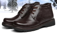 Special offer,wholesale 2014 winter men's leisure snow boots.men's fashion genuine leather fur boots,free shipping,OKC098
