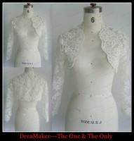 WRS001 Lace Wedding Bolero Long Sleeve Bridal Bolero Elegant Hot Sale Lace Jacket