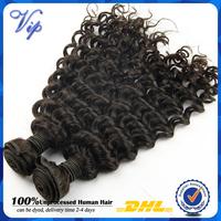 Ms lula Deep Wave Virgin Peruvian Hair Extension Unprocess Kinky Curly Peruvian Deep curly human hair weave Mix 3/4bundle lot