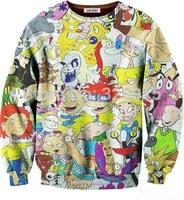 2014 hot women/men cute Cartoon sweatshirts Hey Arnold character helga pataki print Hoodies 3D autumn sweater wholesale