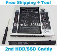 Add 2nd HDD SSD Hard Drive caddy bay for HP Compaq 8710w 8710p