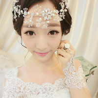 Pretty good love intertwined bridal headdress hair accessories wedding jewelry accessories wedding dress style frontlet