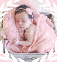 Newborn Baby Mohair Stretch Knit Wrap With Headband