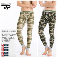 JackPopoo Sexy Men's Cotton Soft Long Johns Pants Thermal Camouflage Printed Cotton Underwear M L XL