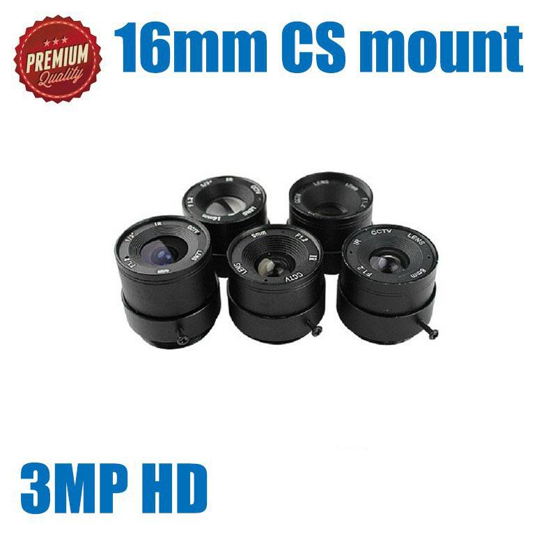 16mm Megapixel 3MP HD CMOS/ CCD SDI CVI CCTV camera lens 1/3 CCTV lens CS mount bullet CCTV camera lens(China (Mainland))
