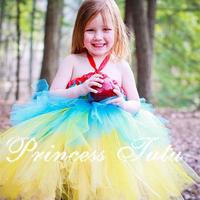 Retail 2014 New Snow White Birthday Princess Dress Cosplay Tutu Dress For Halloween Christmas Party