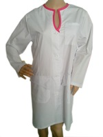 Fashion Neck Hot pink for the female Lab Coat!  fast sale Nurse unifrom; Europe style