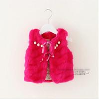 Autumn winter baby girl vest red white cotton bead thick vest kids girls vest children vests 4pcs/lot