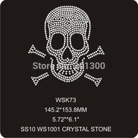 strass hotfix rhinestone motif 30pcs/lot crystal rhinestone transfer WSK73