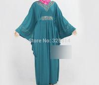 V-Neck ITY Rhinestone Batwing Sleeve Muslim Clothing For Women,Islamic Abaya,Arabic Jilbabs,Clothing For Pregnant,Free Shipping