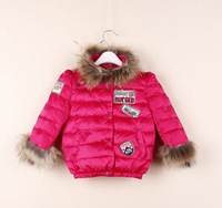 2014929 children's winter clothing high-quality warm  down jacket for girls,children jacket&outerwear free shipping