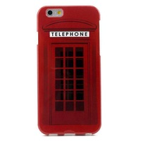 Retro Telephone Booth Soft TPU Gel Back Case Cover for iPhone 6 4.7 inch