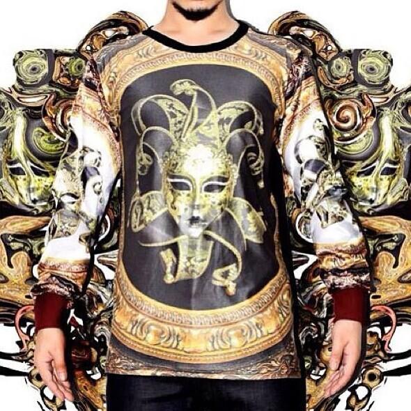 Mo nova moda verão roupas de venda quente mulheres / homens galáxia ouro palhaço impressão 3D mulher Sportswear roupas T-Shirt navio livre PL19(China (Mainland))