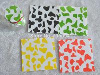 10x10cm Pudding Bottle Sealing Paper Mini Plaid Paper Packing Mini Square Pack Paper color can be mixed 200pcs/lot