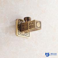"Full Brass Vintage Embossed Standard 1/2"" Bathroom Accessory Filling Valves Angle Valve"