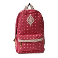 2014 Hot Sale!Fashion canvas women dot stylish shoulder bags Vintage women backpack Casual women backpack New women school bag