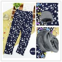 4-11Y Winter 2014 Children Leggings milk fiber and cashmere is not inverted Girl Fleece Pants Warm Pants
