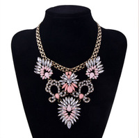 2014 Popular Fashion Jewelry  European and American Style Crystal Gem Short Multi  Necklace For Women &PendantNecklaces N1734