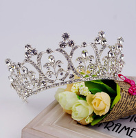 Jazz Korean color bride wedding crown bridal headdress European crown hair accessories wedding accessories jewelry styling studi