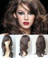 Free shipping long medium curl wigs with natural hair line F2/33 color free part blonde wig lolita wig cheap kanekalon wig