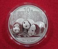 wholesale China high quality 2013ys silver plated panda souvenir coins original 1oz for collection or home decor