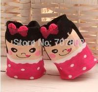 12pair/lot  2014 Hot Sale Free shipping fashion Lady's girls cute bowknot dot cute cotton Sock JFS92907