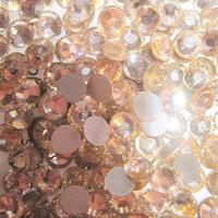 SS8(2.3mm) 1440pcs Glitter Gem 3d Nail Art Rhinestones Decorations Non Hot Fix Flatback Nail Tools DIY Crystal Lt.Peach 023
