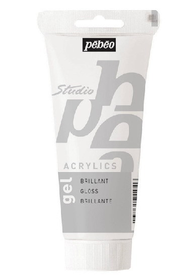 100ml tube Pebeo studio Acrylic brilliant gloss gel,Acrylic medium,white.(China (Mainland))