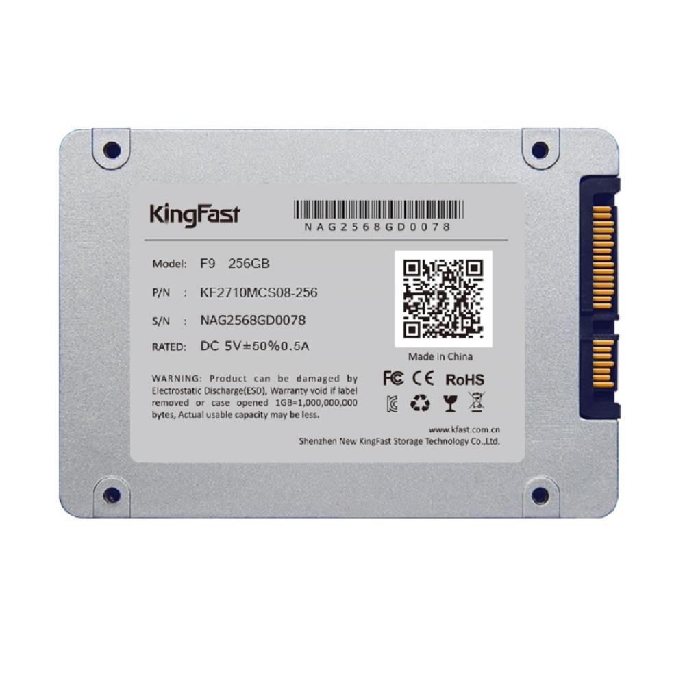Внутренний твердотельный диск (SSD) F9 256 KingFast 2,5 SATA SSD Dell HP Thinkpad Lenovo ASUS Acer Sony Toshiba Deaktop PS3 PS4 KF2710MCS08-256 ssd dell 400 aqnv