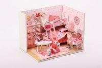 3D DIY dollhouse kit room box miniatures Furniture sets The handmade mini model house princess room