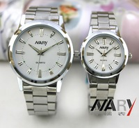 NARY Brand Men Full Steel Watch Stainless Steel Wristwatches Silver Strap Men Casual watches Quartz Watch Free shipping 6090