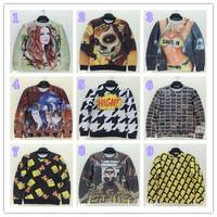 NEW!! HOT!!! 2014  Unisex GOOD QUALITY women's mens hoodie plus size doggy/Beauty 3d prints  sweatshirts ,9 color S-XL