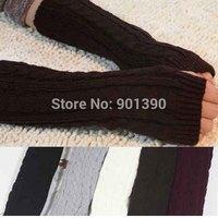 New Arrival Fashion Winter Mitten Warm Unisex Men Women Arm Warmer Fingerless Knitted Long Gloves Retail Wholesale Free Shipping