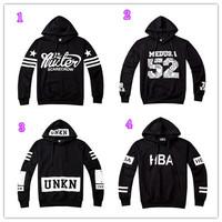 NEW!! 2014  Unisex GOOD QUALITY women's mens hoodie plus size hip hop 3d letter prints  sweatshirts ,4 color S-XL