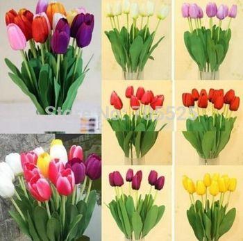 Fd1011 аромат искусственный тюльпан цветы из шелка листьев главная свадебные декор ну вечеринку ~ 1 шт. :)